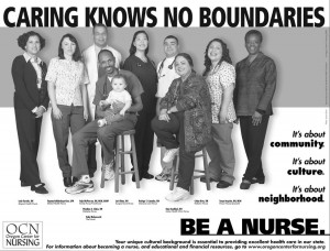 Caring Knows No Boundaries Poster