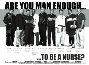 Man Enough Nursing Posters